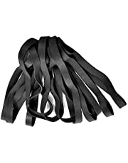 Bandas de goma, 35 unidades de bandas elásticas de goma gruesas y gruesas, juego de bandas de papelera de alta resistencia para oficina, escuela,duraderas, anchas para uso industrial, color negro
