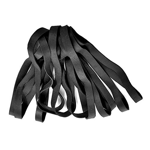 Rubber Bands, 35 Pcs Large Thick Elastic Rubber Bands Set Heavy Duty Trash Can Bands for Office Home School Bank Bank, Strong Durable Wide for Industrial, Cat Litter Box,File Folders Black