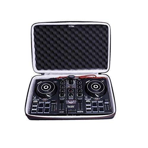 LTGEM Case for Hercules DJControl Inpulse 200 DJ Controller,Hard EVA Storge Bag-black(white lining)