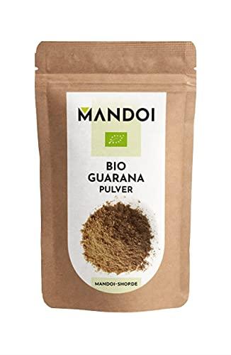 Mandoi BIO Guarana Pulver, 100g aus Brasilien, ohne Zusätze 100% rein, über 3% Koffeingehalt