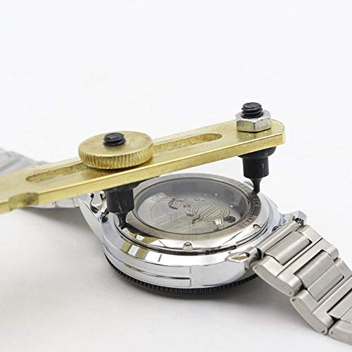 DACCU Verstelbare reparatiesleutel, horlogemakersreparatie gereedschap, horloge-val-afdekking, geel