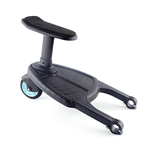 Plataforma para cochecito de bebé con asiento y tabla de apoyo, color azul, carga de 25 kg, para cochecitos y sillas de paseo