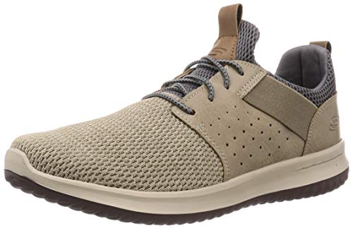 Skechers mens Classic Fit Delson Camben Sneaker, Taupe, 10 US