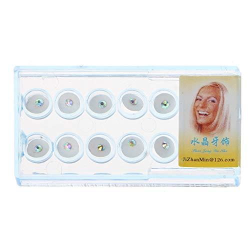 ZOOMY 10Piezas / Caja 2mm Dental Diente Cristalino Joyas Joya Decoración con Caja