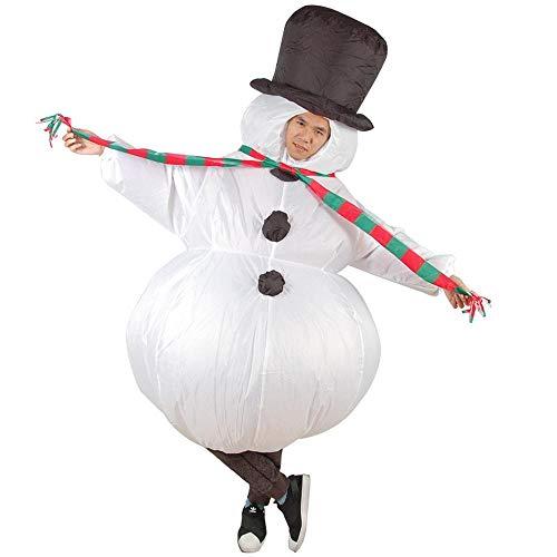 MHSHCQ Inflable Monigote de Nieve Disfraz para Adultos Fancy Blow Up Party Disfraz de Halloween Accesorios de Disfraces de Fiesta de Cosplay Suitable for Height 150-190 cm