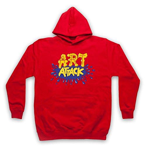 My Icon Art & Clothing Art Attack Kids TV Logo Buchanon Disfraz Sudadera con capucha para adultos rojo M