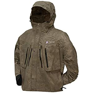 Frogg Toggs Men's Tekk Toad Breathable Waterproof Rain/Wading Jacket, Stone, Small