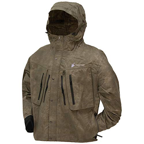 Frogg Toggs Men's Tekk Toad Breathable Waterproof Rain/Wading Jacket, Stone, Large