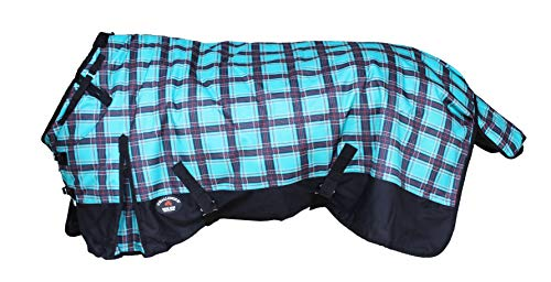CHALLENGER 74' 1200D Turnout Waterproof Horse Winter Blanket Heavy Weight Teal 556G