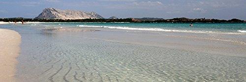 Posterazzi PPI151592L La Cinta Beach with Tavolara Island in the background San Teodoro Province of Olbia-Tempio Sardinia Italy Poster Print, 36 x 12