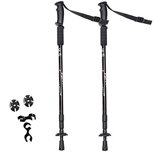 Boealzhl 2pcs/lot Nordic Walking Poles Adjustable Trekking Poles Telescopic Scandinavian Walking Sticks Anti Shock Hiking Stick