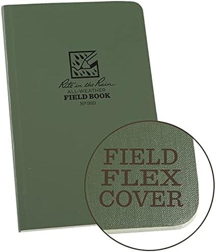 Rite In The Rain 980 Green All Weather Field-Flex Tactical Bound Book