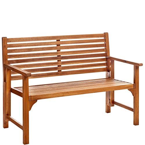 Butlers Somerset Klappbare Gartenbank 2-Sitzer 111x59x90 cm - Braune Klappbank aus FSC-Akazienholz - Sitzbank für Garten