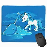 ユニコーンオンビーチ マウスパッド 25×30 大判 ノンスリップ 防水 ゲーミング おしゃれ マウスの精密度を上がる