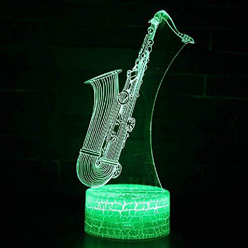 Touch Control Und Remote Control 3D Led 16 Farben Usb Tischlampe Musikinstrument Saxophon Thema Lampen Nachtlicht Stimmungs Lampen Weihnachtsgeschenk