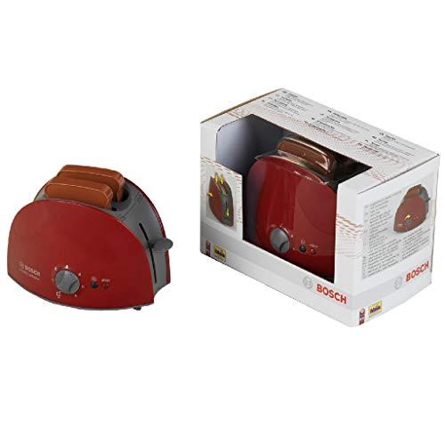 Theo Klein 9578 Bosch Toaster I Mit mechanischer Toastfunktion I Inklusive 2 Scheiben Spielzeugtoast I Maße: 15 cm x 12 cm 10,5 cm I Spielzeug für Kinder ab 3 Jahren