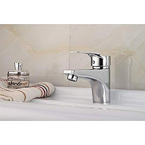 JKCKHA Cuenca del Grifo grifos de baño Moderna Cubierta montada con válvula de cerámica Orificio de Cromo baño Grifo del Fregadero grifos de baño