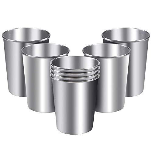 Idebirs 8 Pack roestvrijstalen bekers Tumblers onbreekbare metalen koffiemok 300ml