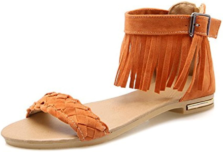 Women's Summer Fashion Casual shoes Beach shoes Sandals Large Size Flat shoes Weave Canvas Size 34-43