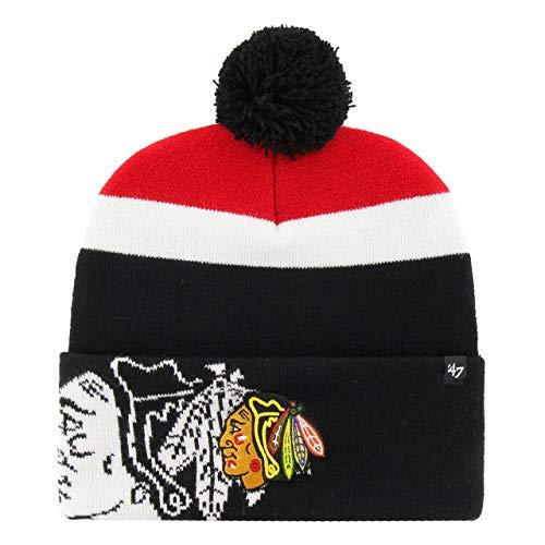 47 Brand Bonnet NHL Chicago Blackhawks Noir OSFA (Taille pour Tout)