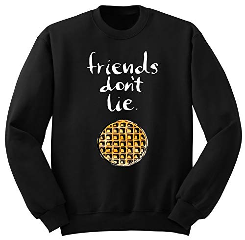 Friends Don't Lie Stranger Things Sweatshirt Jumper Zwart Grijs S-XXL TR8