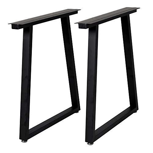 Metal Legs for Table Trapezoid Shape28 H Tall Metal Table Leg Heavy Duty Metal Desk Legs Industrial Table Legs Set of 2,Black