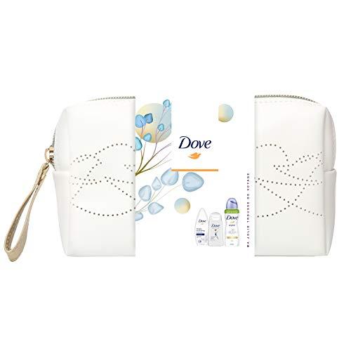 Dove Mini trousse Dove Original, Idée cadeau, Shampooing repair, Gel Douche nutrition & Déodorant spray original, Nutrition intense, Protection 48h, Idée cadeau Fête des Mères, idéal à offrir, x1