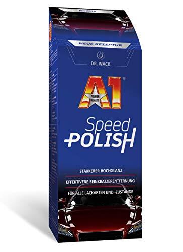 Dr. Wack – A1 Speed Polish 500 ml – NEUE FORMEL I Premium Auto-Politur mit stärkerer Kartzerentfernung und noch besserem Hochglanz I Für alle Lacke geeignet I Hochwertige Autopflege – Made in Germany