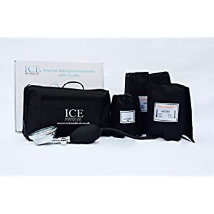 Aneroid Blood Pressure Monitor Kit - Sphygmomanometer 3 cuffs included
