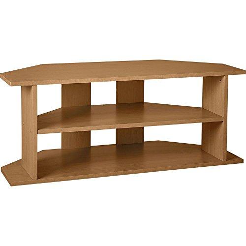 Mueble de esquina para TV grande, efecto de madera de roble