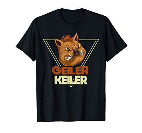 Geiler Keiler | Jagen Weidmann Bester Jäger Jagd Spruch T-Shirt
