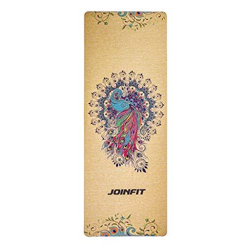 RXL Ejercicio Yoga Mat Espuma Eje Bola del Masaje de Tres Piezas Conjunto Engrosamiento de ampliarse y alargarse Antideslizante Estera de Fitness Deportes Formación (Color : B, Size : 4mm)