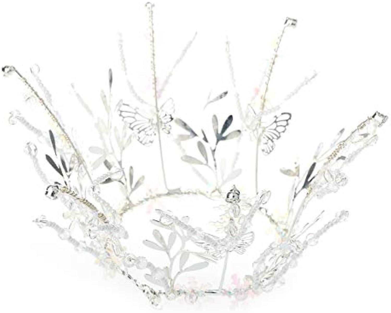 Jewelry M die Krone Braut Krone Kopfschmuck Runde Krone einfache handgemachte Kristall Perle Prinzessin Haarschmuck Braut Hochzeit Abendessen Haarschmuck B07QJVK19W Fairer Preis  | Großhandel