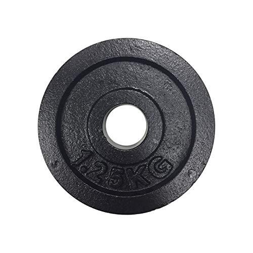 top vit Hantelscheiben Set aus Gusseisen I Gewichtsscheiben mit 31mm Bohrung für Hanteln I Gewichte paarweise in den Varianten 2 x 0,5kg / 2 x 1,25kg / 2 x 2,5kg (1.25)