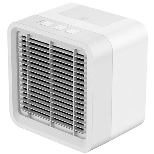 Mini Air Cooler, 3 in 1 USB Personal Space Portable Air Conditioner 3 Wind Speed Adjustment USB Plug-in 2A Power Interface Mini Fan