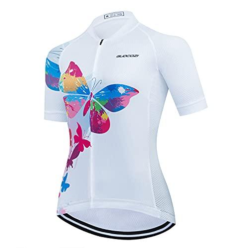Magliette da Ciclismo da Donna, Abbigliamento da Ciclismo Traspirante e Asciugatura Rapida per Bici da Corsa Bici da Strada