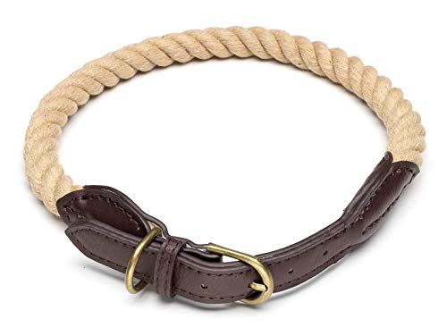 Bymia Hundehalsband, robust, weiches Echtleder, handgefertigt, 60 cm