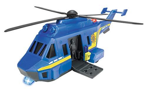 Dickie Toys 203714009 Special Forces Helicopter, Spezialeinheit, Polizeihelikopter mit Funktionen, Hubschrauber Sondereinheit, 1:24, blau