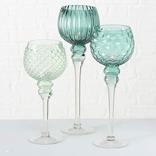 Windlicht Manou S/3 H30-40 Material: Glas lackiert 3er SET