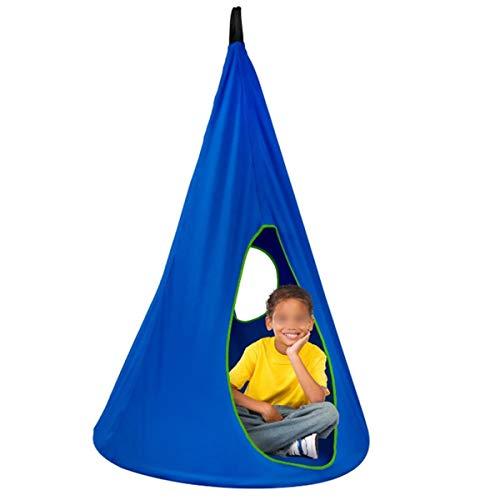 VDSOIUTYHFV Niños Swing Silla Plegable para Colgar Hamaca Asiento Interior Y Al Aire Libre Azul
