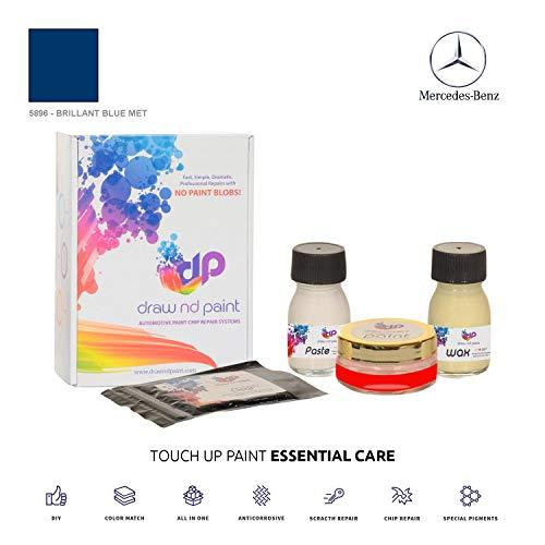 DrawndPaint for/Mercedes C-Class/Brillant Blue Met - 5896 / Sistema di Vernice da RITOCCO - Corrispondenza ESATTA/Essential Care