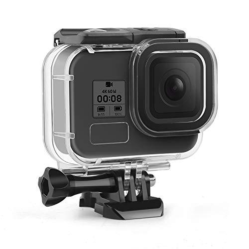 SHOOT Carcasa Impermeable para GoPro HERO8, 45M/147FT Funda de Protección Subacuática Carcasa Sumergible con GoPro Hero 8 Black con 12 Inserciones antivaho