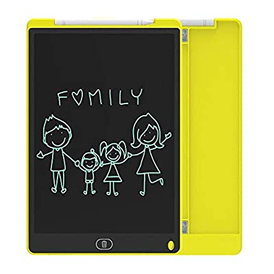 ZenHome LCD Writing Tablet, 12 Inch Electronic Writing and Drawing Board, Erasable Reusable Doodle Pad Tablet for Kids and Adults at Home, School, Office (Yellow)