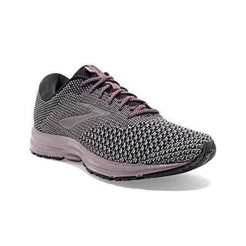 Brooks Womens Revel 2 Running Shoe - Black/Grey/Arctic Dusk - B - 8.0