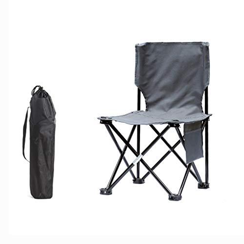 ZPWSNH Klappstuhl Outdoor Campingstuhl tragbarer Stuhl Strandstuhl Angelstuhl Hocker Grau Klappstuhl