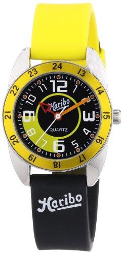 Haribo Unisex-Armbanduhr Analog Silikon HA3867-YL-BK3