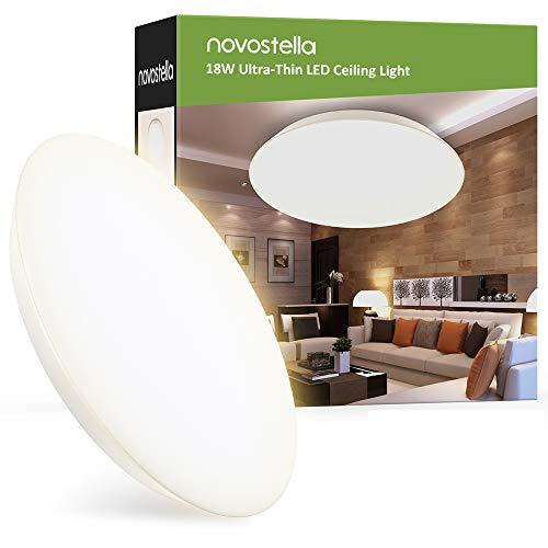 LED Deckenleuchte 18W 1800LM (Ersetzt 120W) 3000K Badlampe Ultradünne Deckenlampe IP65 Wasserdicht Warmweiß Durchmesser 30cm für Bad, Wohnzimmer, Küche, Balkon Kühlraum Garage von 25m²