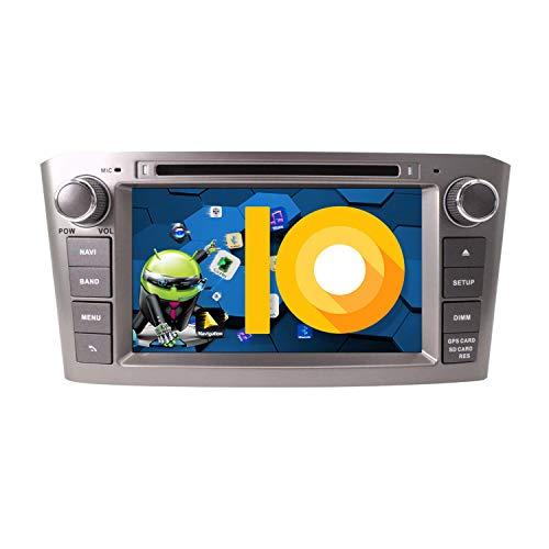 ZWNAV 7 Pulgadas Andriod 9.0 Doble DIN Auto Stereo Navi Bluetooth Navegación GPS para Toyota Avensis T25 2002-2008 Unidad de Control del Volante 17.8 cm Unidad Principal