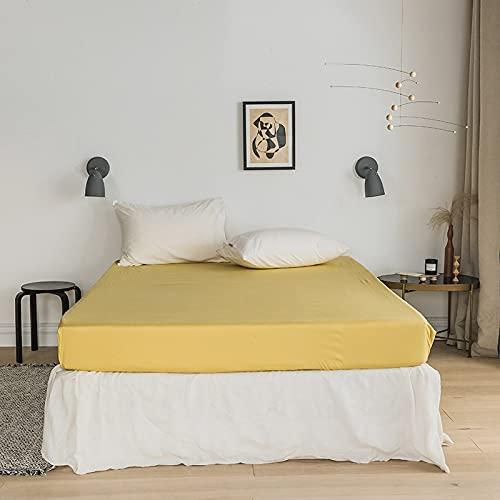 BOLO Sábana bajera de franela de algodón cepillado o fundas de almohada, de lujo, termal suave y acogedor, tejido de satén, 150 x 200 + 25 cm