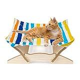 Factorys Camas para Gatos,Ventana para hamacas para Gatos,cunas para Mascotas,Camas para Perros pequeñas,Marco de Madera Desmontable,sofá Cuadrado para Gatos,Muebles para Mascotas